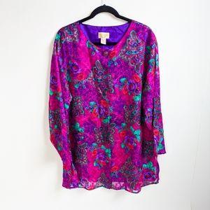 VTG 90s Victoria Secret Semi Sheer Gown Tunic